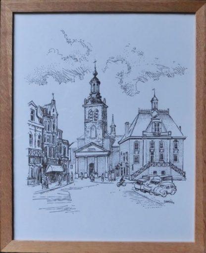 Markt, Francien, met lijst