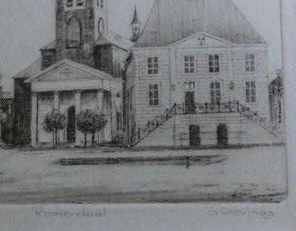 Markt Roosendaal A. Wieringa, detail handtekening
